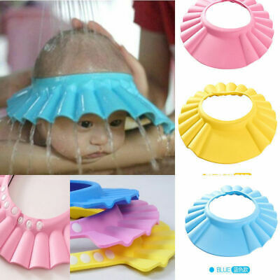 £3.99 • Buy Baby Kids Child Shower Cap For Hair Wash Bath Soft Waterproof Protect Shield Hat