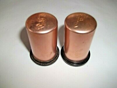 Vintage Mid Century Modern Copper Tone Aluminum 2  Salt & Pepper Shakers • 8$