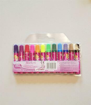 Disney Princess Cinderella Felt Pens Markers Tips Colouring Play Toy Childrens  • 1.99£