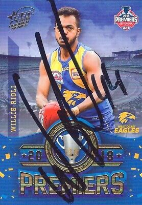 AU99.99 • Buy ✺Signed✺ 2018 WEST COAST EAGLES AFL Premiers Card WILLIE RIOLI