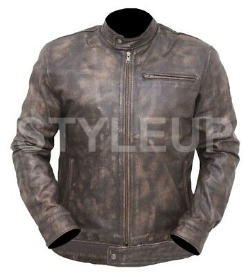 $169.19 • Buy MacGyver Series Angus Costume Lucas Till Stylish Wear Distressed Leather Jacket