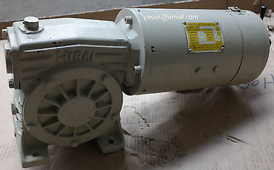 MIKI Pulley 0.4kW DC Electric Motor Gearbox 2500RPM 1:50 Ratio Arm 160v • 290£