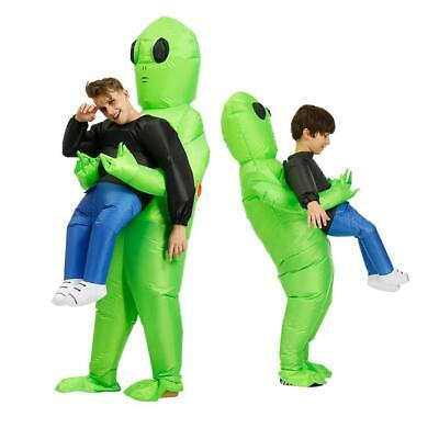 $28.20 • Buy Inflatable Green ET-Aliens Pick Me Up Costume Funny Halloween Party Dress Adults