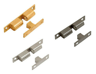 Solid Brass Double Ball Catch Roller Latch Cupboard Door Display 42-70mm Chrome • 2.79£