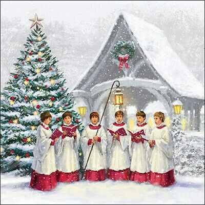 £2.25 • Buy 5 Paper Party Napkins Singing Choir 5 Pack 3 Ply Tissue Serviettes Christmas