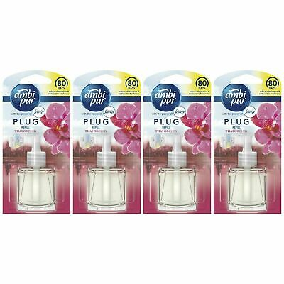 £11.81 • Buy 4 Ambi Pur With Febreze Air Freshener Plug-In Diffuser Refill, 20ml, Thai Orchid
