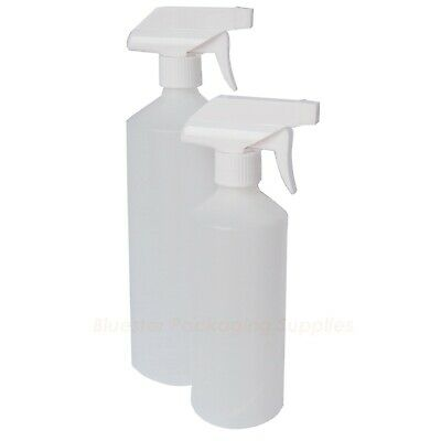 Natural Plastic HDPE Trigger Bottle Car Cleaning Hand Garden Spray 500ml 1000ml • 4.96£