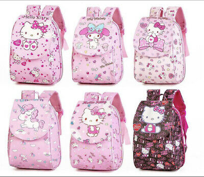 AU35.95 • Buy Sweet Pink Cartoon Hello Kitty Faux Leather School Library Travel  Backpack Bag
