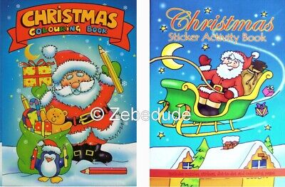 £1.79 • Buy Set 2 X Children's Christmas Colouring Book Stickers Activity Kids Xmas Puzzle