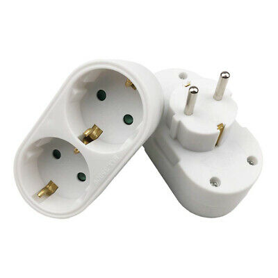16A 2-Gang European EU 2 Plug Wall Socket Standard Panel Charger Adapter White • 6.26£