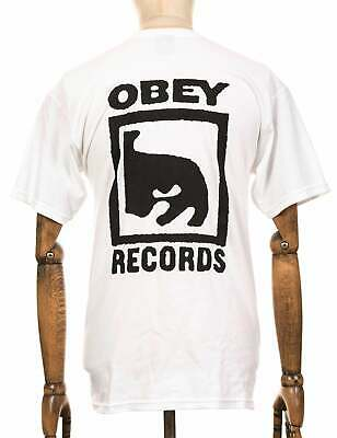 £29.45 • Buy Obey Clothing Records Icon Tee - White