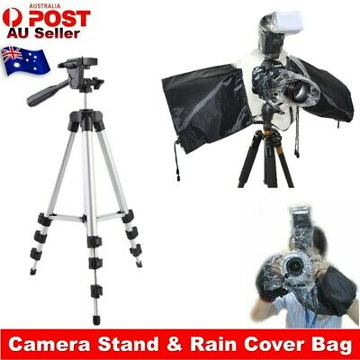 AU7.65 • Buy DSLR Rain Cover Bag & Professional Camera Tripod Stand Holder For IPhone Samsung