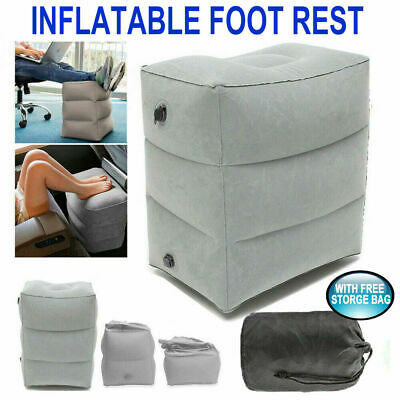 AU13.99 • Buy Travel Inflatable Foot Rest Air Pillow Cushion Office Home Leg Footrest Relax AU