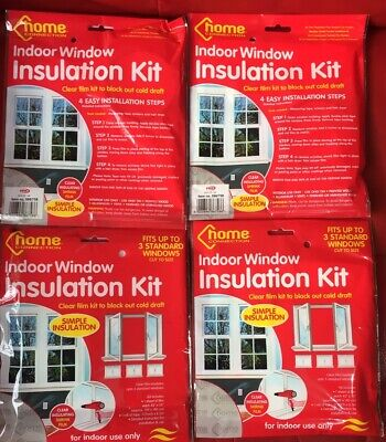 Diy Window Insulation Kit Cold Draught Excluder Shrink Film & Double Sided Tape • 5.59£
