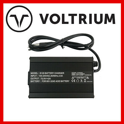 AU50 • Buy New Voltrium 60v 2A Smart Lead Acid Charger For Electric Scooter - 1000w 1600w