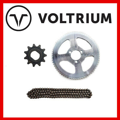 AU49.49 • Buy New Voltrium 11T + 70T + 110 Link 25H Kit For Electric Scooter - 1000w 1600w