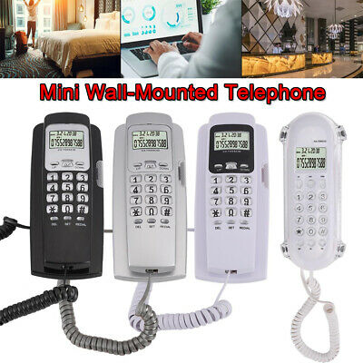 £11.77 • Buy Wall-Mounted Phone Home Office Telephone W/Caller ID Backlight Callback Function