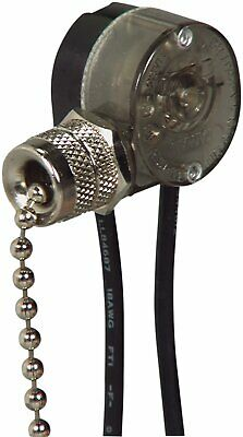 EATON Wiring BP458NP-SP-L 3-Amp 125-Volt Single Pole Pull Chain With End Bell... • 6.15£