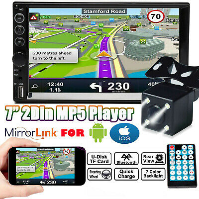 $67.77 • Buy Double 2 Din Car Stereo 7 + Backup Camera Touch Screen Radio Mirror Link For GPS
