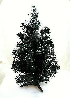 $ CDN20.29 • Buy Black HALLOWEEN TREE Decoration Vintage Plastic Artificial Christmas 1 Ft Or 12