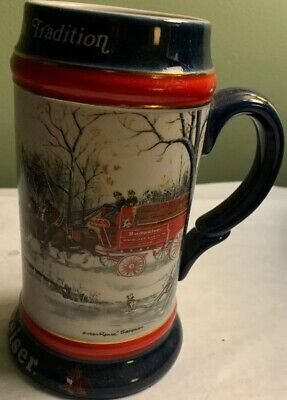$ CDN9.38 • Buy Budweiser 1990 Collector's Series Beer Stein  An American Tradition
