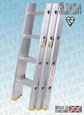 Titan Aluminium Classic Trade Extension Ladders, Double Or Triple Extension • 169£