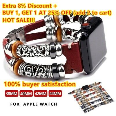 $ CDN5.64 • Buy For Apple Watch Series 5 4 3 2 1 Retro Leather Band Strap IWatch 38/42/40/44mm