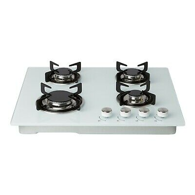 £114.99 • Buy Cookology White Glass Gas Hob GGH600WH 60cm Built-in & Auto Ignition