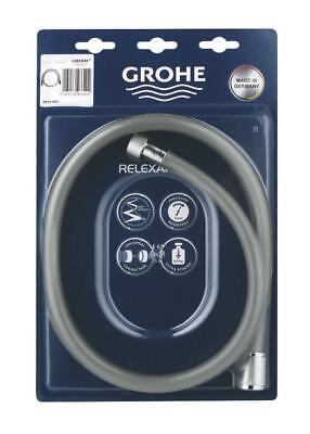 Genuine Grohe 28151001 Relexaflex Shower Hose 1500 Silver Universal Connection • 12£