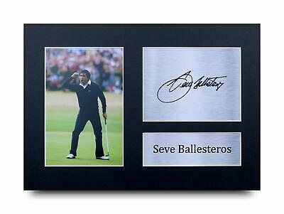 £14.99 • Buy Seve Ballesteros Signed Pre Printed Autograph A4 Photo Gift For A Golf Fan