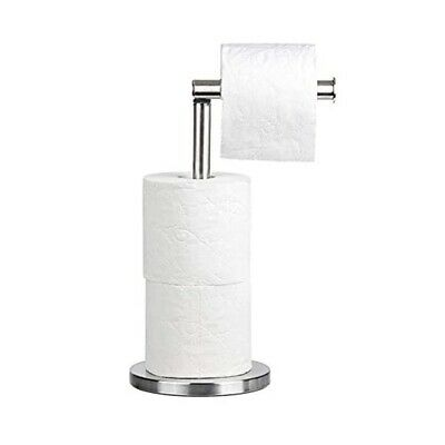 £9.94 • Buy Chrome Swivel Standing Toilet Roll Holder With Extra Rolls-storage Ukes.