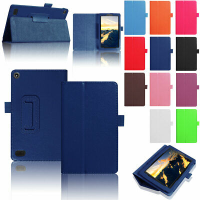 For Amazon Kindle Fire 7 2019 9th Generation Flip Stand Smart Leather Case Cover • 6.88£