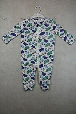 AU17 • Buy Baby Boy Size 00,0 Marquise Winter White  Romper With Vehicle Print All Over NWT
