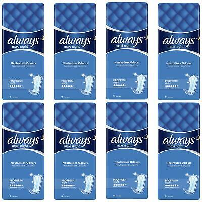 £11.87 • Buy 72 Always Maxi Night Profresh Sanitary Pads - Neutralises Odours Super Absorbent