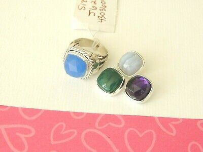 Brighton Color Clique 4 Gem BAND Ring Size 7 New Tags $128 • 44$