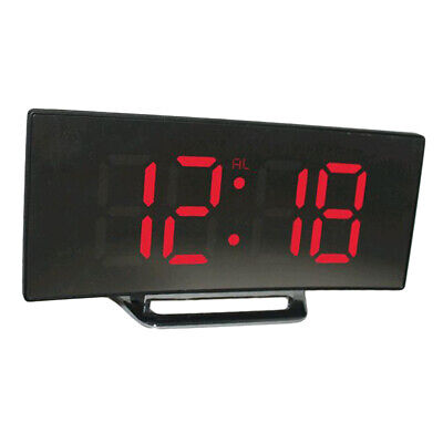 LED Display Alarm Clock Digital Projection Clock With 12/24 Hours Clock Red • 10.24£
