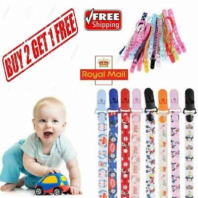 Dummy Clip Baby Soother Clips Teething Baby Teether Chain Holder Pacifier Straps • 2.99£