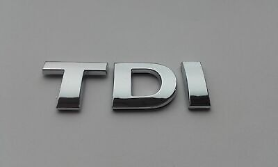 £3.99 • Buy New Tdi Chrome Letters 25mm Self Adhesive For Car Badge, Auto, Boot, Emblem