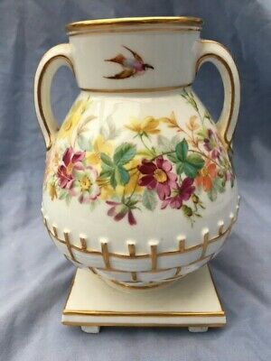 Antique Porcelain Minton Vase 1867 Chinese Influence Hand Painted  • 145£