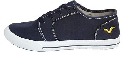 Mens Boys Lace New Voi Jeans Canvas Trainers Pumps Casual Formal Black UK 6 - 9 • 20.69£