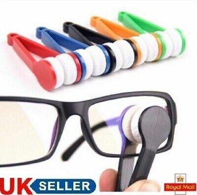 Eye Glasses Spectacles Lens Cleaning Microfibre Optic Cleaner Glasses Cloth Tool • 2.24£