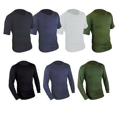 Mens Thermal Armour Base Layer Top Long/Short Sleeve Breathable Skin Gym Shirt • 9.49£