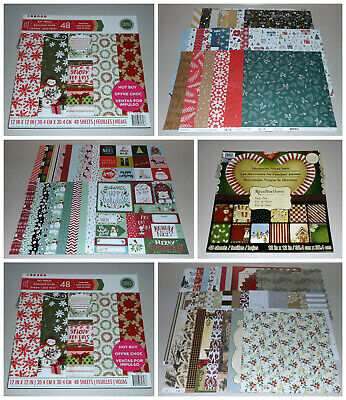$39.95 • Buy Huge Christmas 12x12 Scrapbook Paper & Pad Lot - Recollections, American Crafts