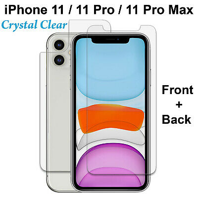 AU4.99 • Buy 9H Tempered Glass Screen Protector & 4H Film Apple IPhone 11 Pro Max Front Back