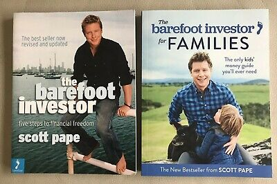 AU34.95 • Buy X2 BOOKS - THE BAREFOOT INVESTOR + For FAMILIES, Scott Pape  Pb