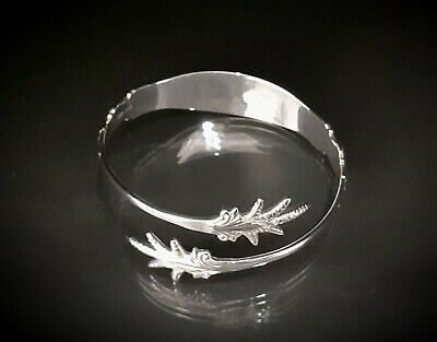 Stunning Solid Silver Sugartong Torque Bangle Assay Approved • 75£