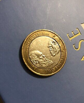£90 • Buy 2009 £2 - Rare Minting Error - Two Pound Coin CHARLES DARWIN 1809 - 2009