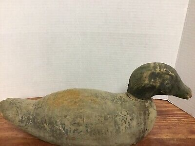$296 • Buy Antique Very Old Handcarved Wooden Decoy Duck, Saco ,maine