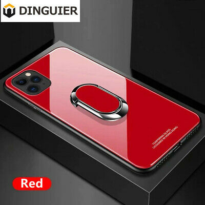 AU14.59 • Buy For IPhone 11 Pro Max XS 7 8 Plus Magnetic TPU Case Glass Cover With Ring Holder