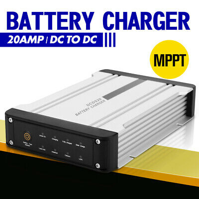 AU169.99 • Buy 12V DC To DC Battery Charger MPPT 20A Dual Battery System Kit Isolator Solar